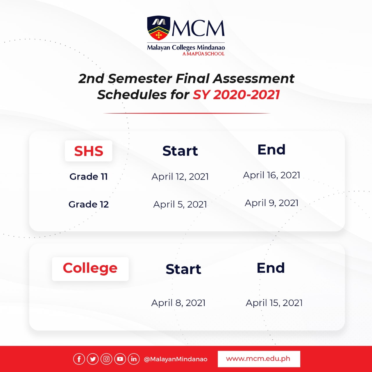 2nd Semester Final Assessment (Grade 12)